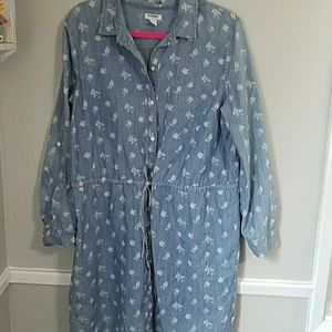 Old Navy Dresses - Jean Shirt Dress Tab Sleeves Large
